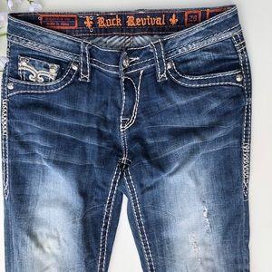 Rock Revival Bootcut Denim Mid Wash, Distressed